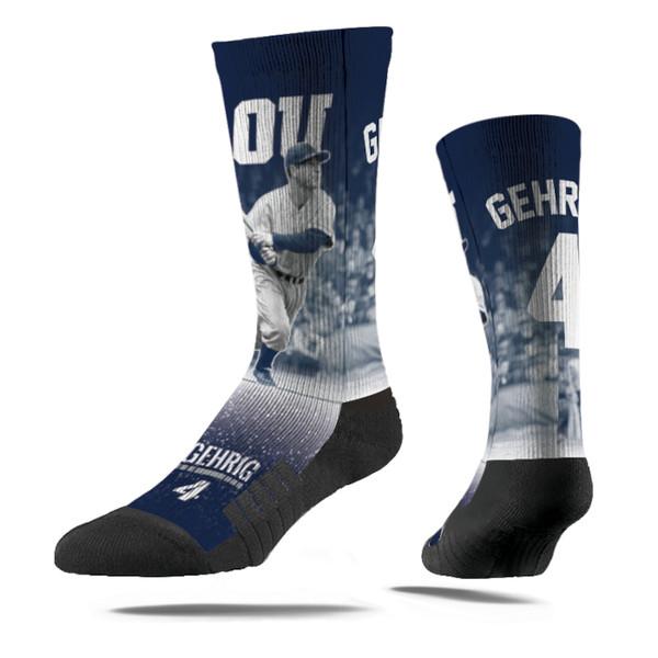 Men's Strideline Lou Gehrig Swing Full Image Premium Crew Socks