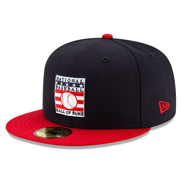 Men's New Era Baseball Hall of Fame Navy with Red 59FIFTY Fitted Cap