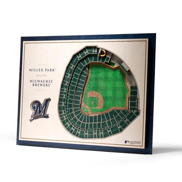Milwaukee Brewers 5 Layer 17 x 13 StadiumViews 3D Wall Art