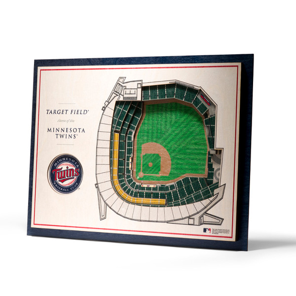 Minnesota Twins 5 Layer 17 x 13 StadiumViews 3D Wall Art