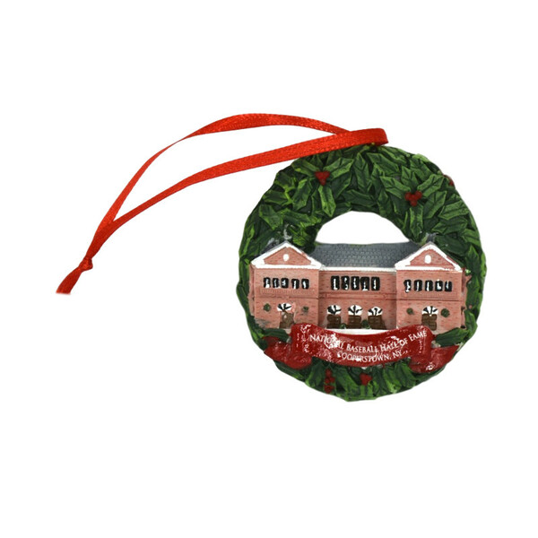 Baseball Hall of Fame Resin Wreath Ornament