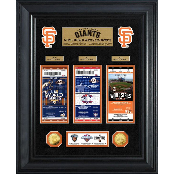 Highland Mint San Francisco Giants World Series Deluxe Framed Gold Coin & Replica Ticket Collection