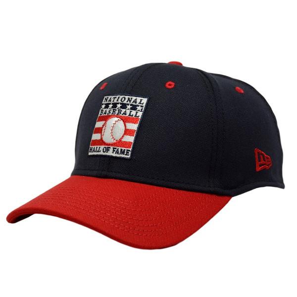 Men's New Era Baseball Hall of Fame Navy/Red Batting Practice 39THIRTY Flex Fit Cap