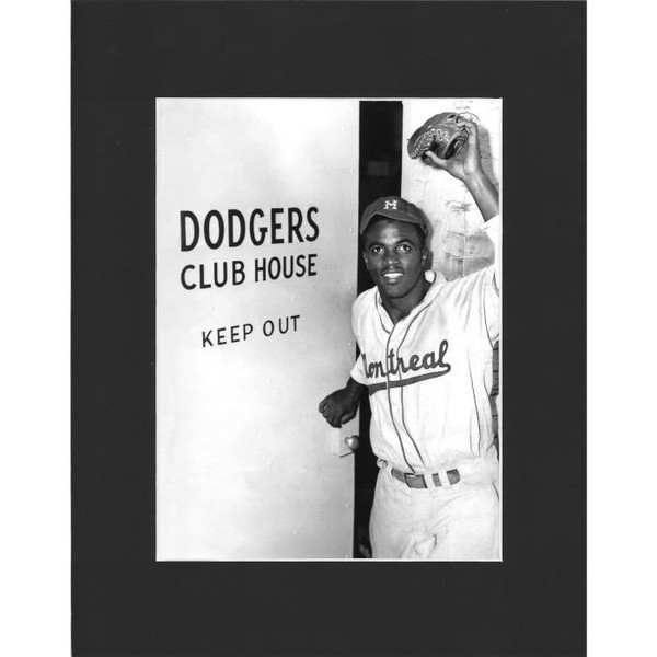 Matted 8x10 Photo- Jackie Robinson