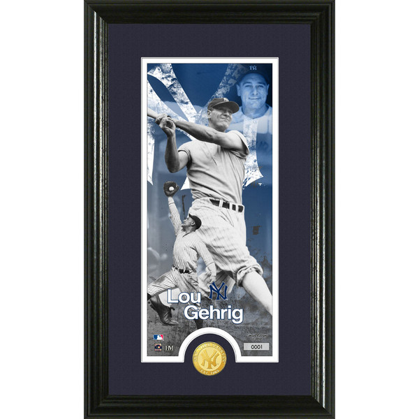 Highland Mint Lou Gehrig New York Yankees Supreme Bronze Coin Photo Mint