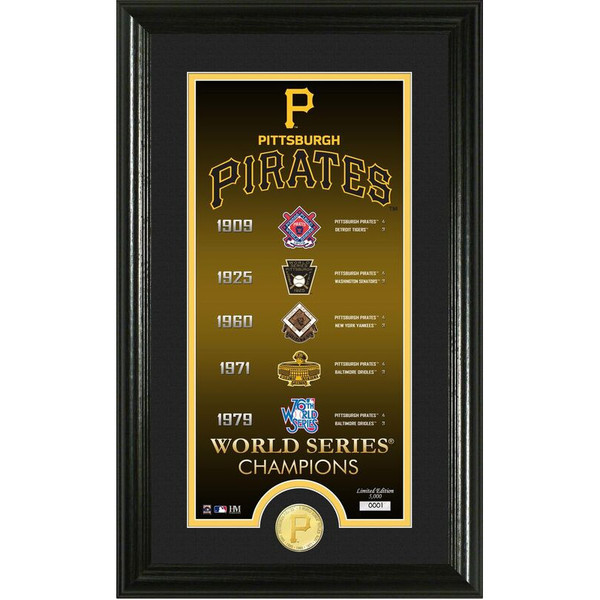 Highland Mint Pittsburgh Pirates Legacy Supreme Bronze Coin 12 x 20 Photo Mint