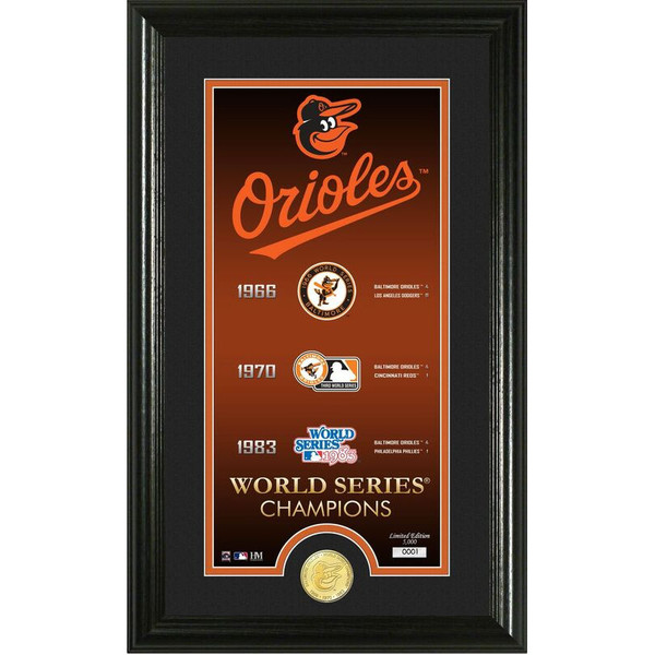 Highland Mint Baltimore Orioles Legacy Supreme Bronze Coin 12 x 20 Photo Mint