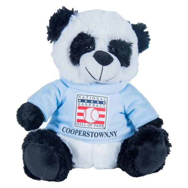"Baseball Hall of Fame 13"" Plush Panda Bear with Light Blue HOF T-Shirt"