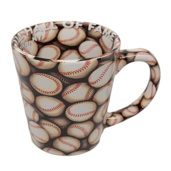 Baseball Hall of Fame Wrap-around Baseballs Mug