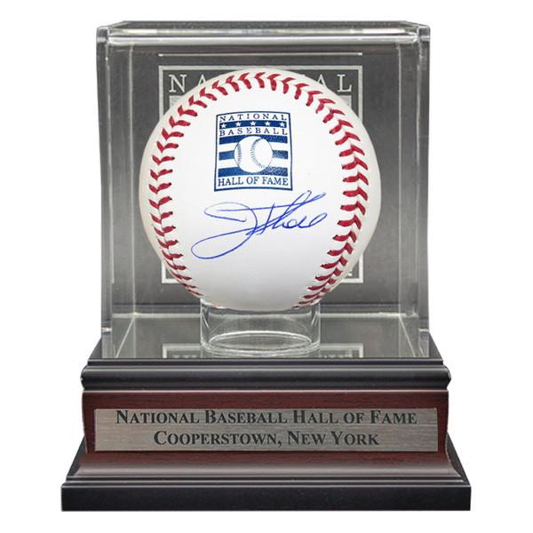 Jim Thome Autographed Hall of Fame Logo Baseball with HOF Case (MLB)