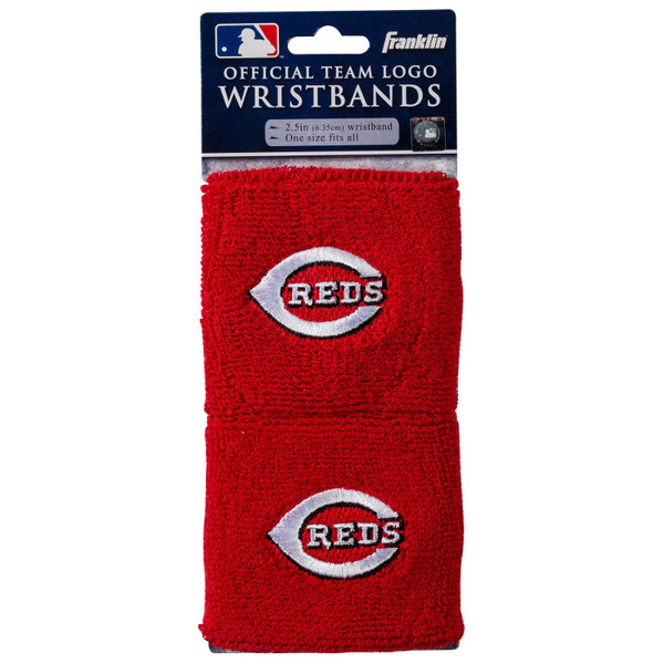 "Franklin Sports Cincinnati Reds Pair of 2.5"" Wristbands"