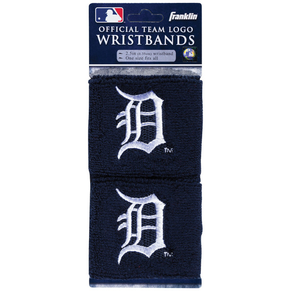 "Franklin Sports Detroit Tigers Pair of 2.5"" Wristbands"