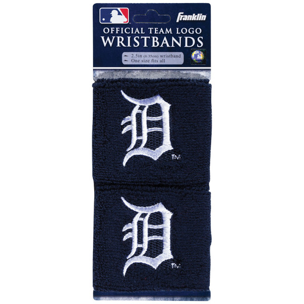 """Franklin Sports Detroit Tigers Pair of 2.5"""" Wristbands"""