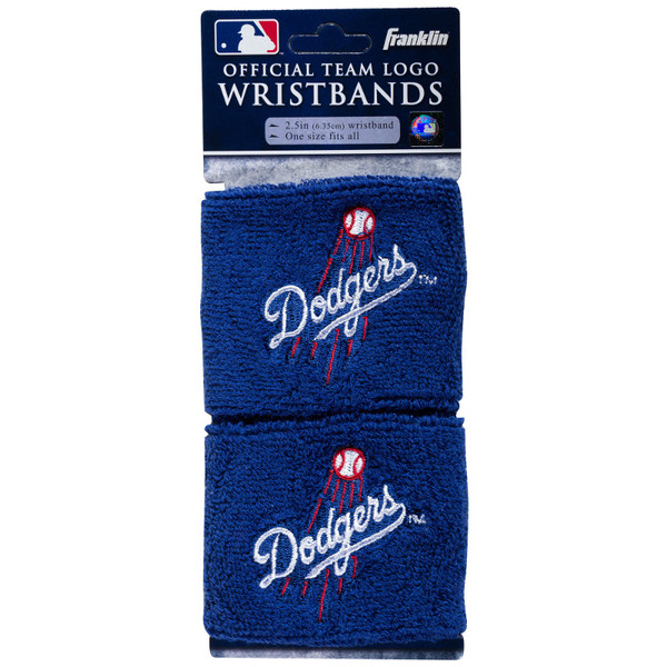 """Franklin Sports Los Angeles Dodgers Pair of 2.5"""" Wristbands"""