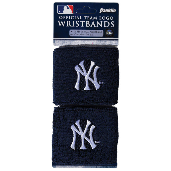 """Franklin Sports New York Yankees Pair of 2.5"""" Wristbands"""