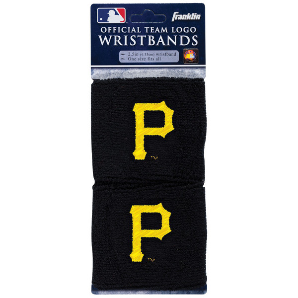 """Franklin Sports Pittsburgh Pirates Pair of 2.5"""" Wristbands"""