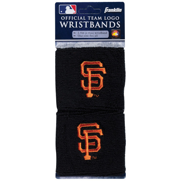 """Franklin Sports San Francisco Giants Pair of 2.5"""" Wristbands"""