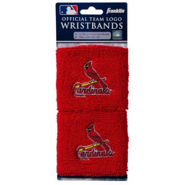 """Franklin Sports St. Louis Cardinals Pair of 2.5"""" Wristbands"""