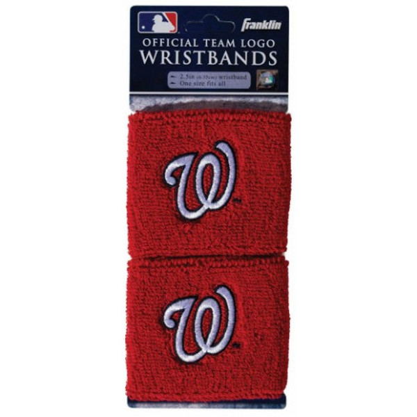 "Franklin Sports Washington Nationals Pair of 2.5"" Wristbands"