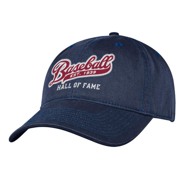 Men's Baseball Hall of Fame Navy Est 1939 Script Adjustable Cap