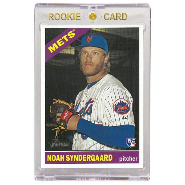 Noah Syndergaard New York Mets 2015 Topps Heritage # 618 Rookie Card