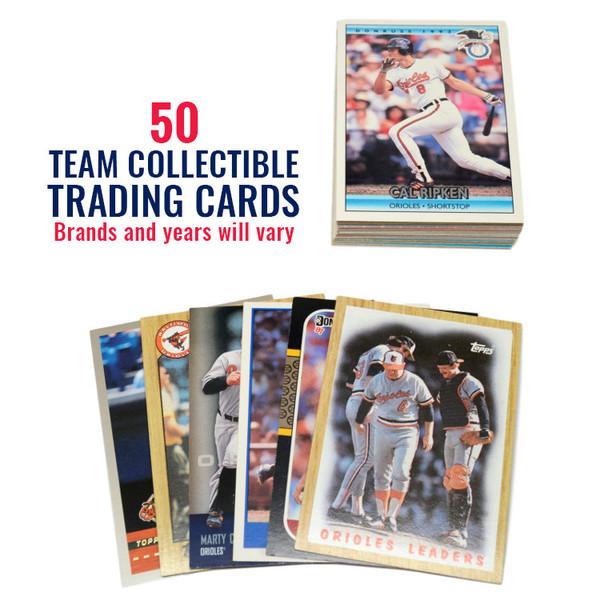 Baltimore Orioles 50 Card Team Baseball Card Lot