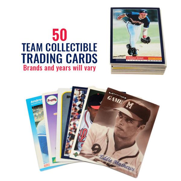 Atlanta Braves 50 Card Team Baseball Card Lot