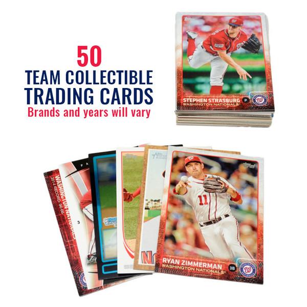 Washington Nationals 50 Card Team Baseball Card Lot