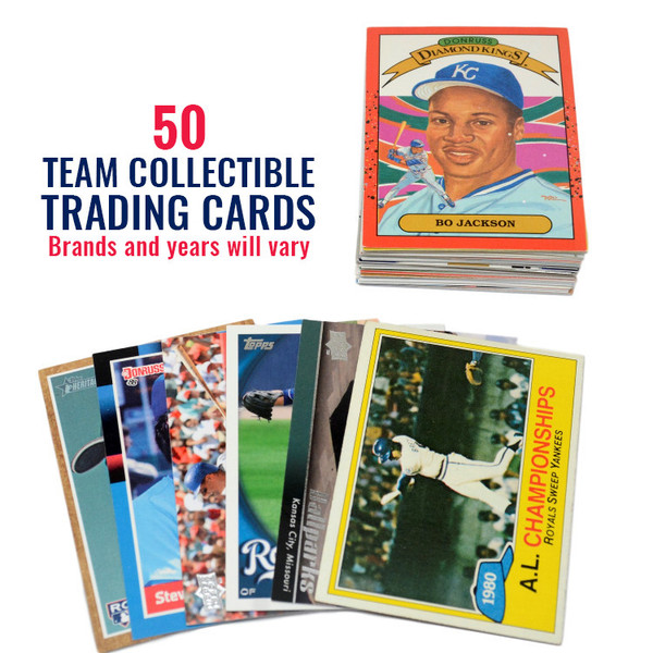 Kansas City Royals 50 Card Team Baseball Card Lot