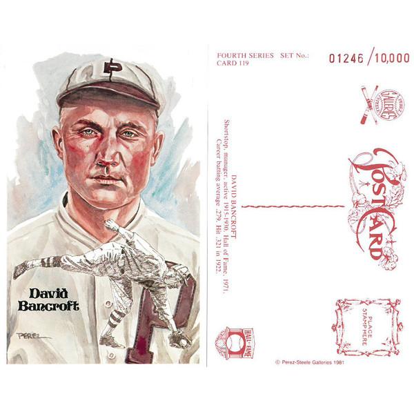 Perez-Steele Dave Bancroft Limited Edition Postcard