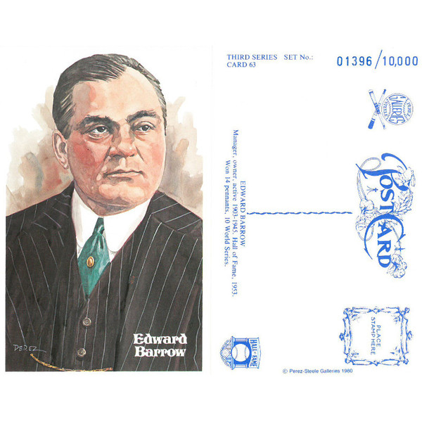 Perez-Steele Ed Barrow Limited Edition Postcard