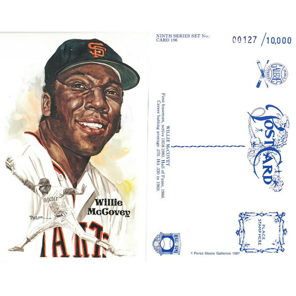 Perez-Steele Willie McCovey Limited Edition Postcard