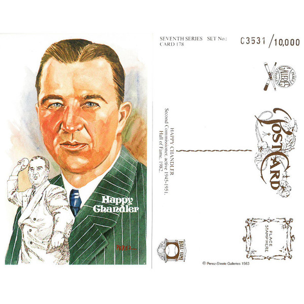 Perez-Steele Happy Chandler Limited Edition Postcard