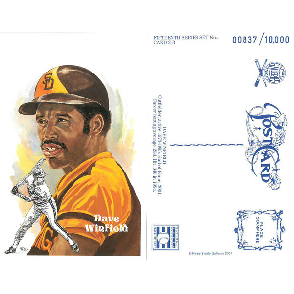 Perez-Steele Dave Winfield Limited Edition Postcard