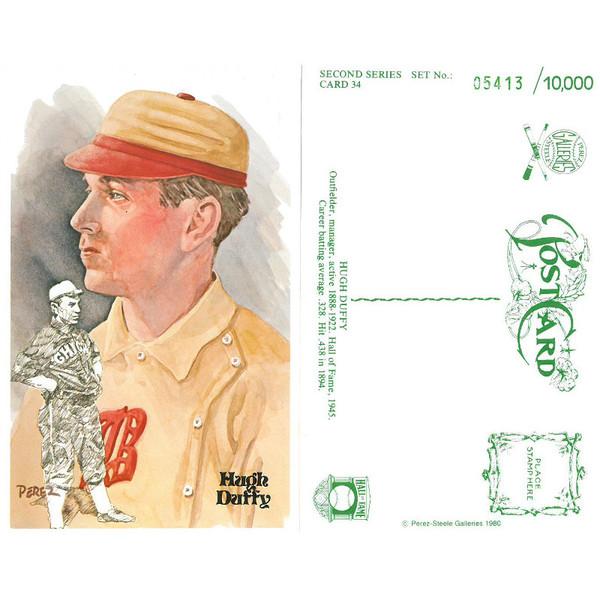 Perez-Steele Hugh Duffy Limited Edition Postcard