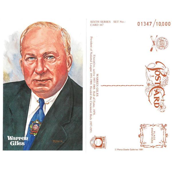 Perez-Steele Warren Giles Limited Edition Postcard