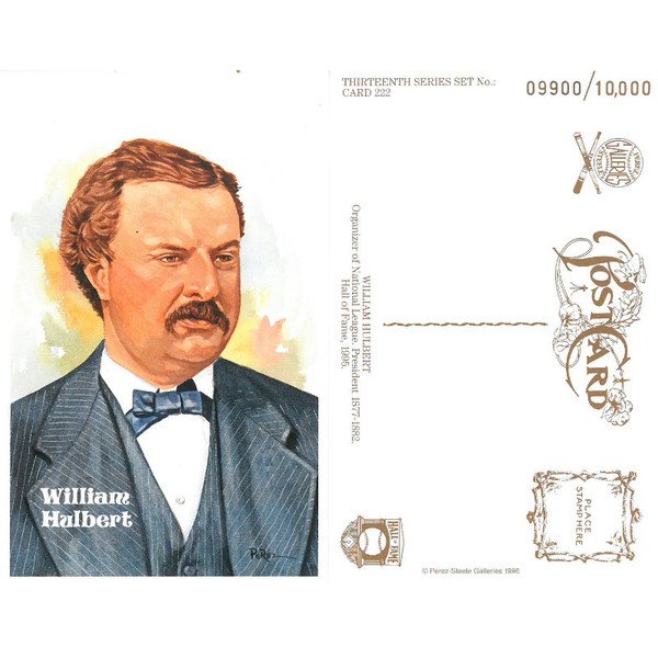 Perez-Steele William Hulbert Limited Edition Postcard