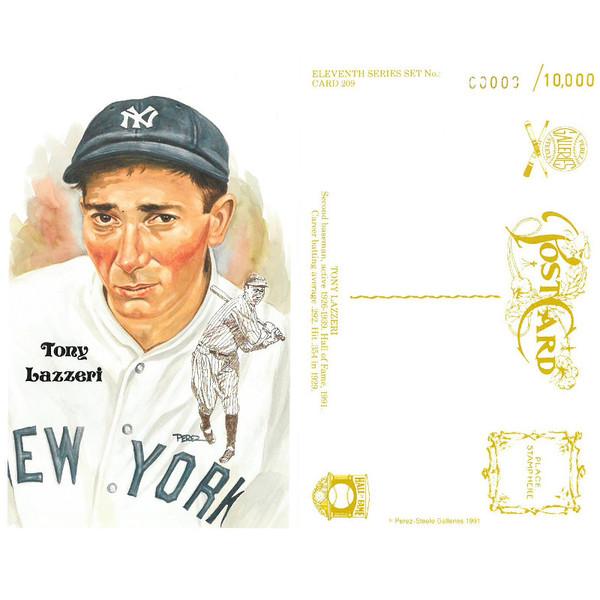 Perez-Steele Tony Lazzeri Limited Edition Postcard