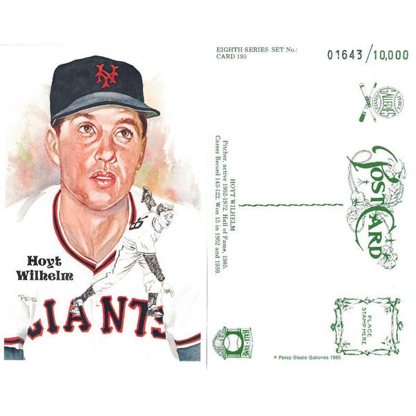 Perez-Steele Hoyt Wilhelm Limited Edition Postcard