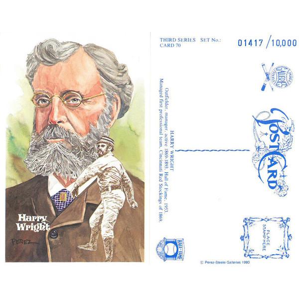 Perez-Steele Harry Wright Limited Edition Postcard