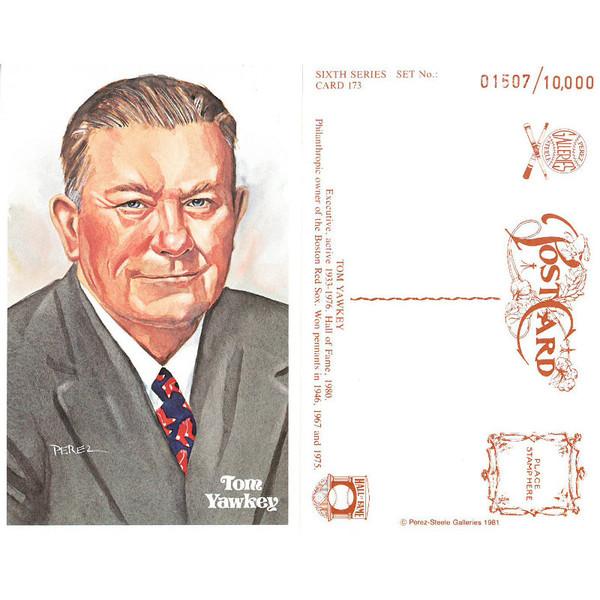 Perez-Steele Tom Yawkey Limited Edition Postcard