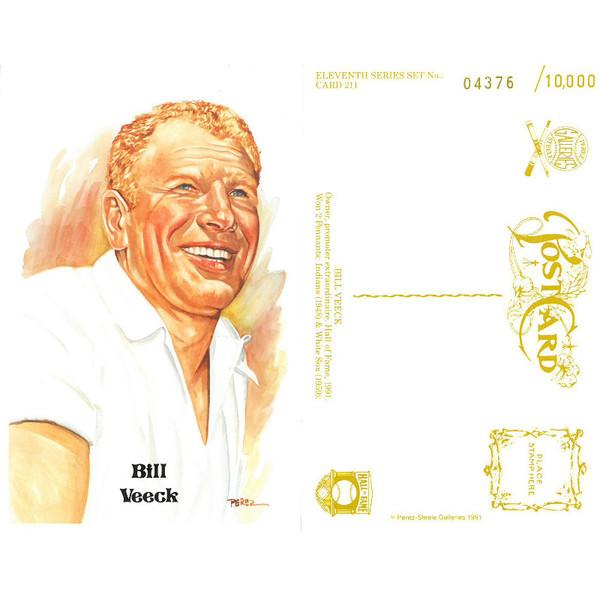 Perez-Steele Bill Veeck Limited Edition Postcard