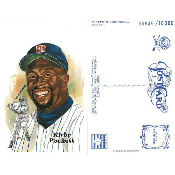 Perez-Steele Kirby Puckett Limited Edition Postcard