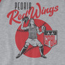 Unisex Teambrown Peoria Red Wings AAGPBL Longsleeve Baseball Shirt