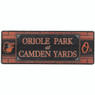 Open Road Baltimore Orioles 10 x 28 Wood Cooperstown Collection Wall Art