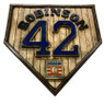 Jackie Robinson Hall of Fame Vintage Distressed Wood 17 Inch Legacy Home Plate Ltd Ed of 250