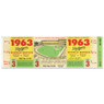 """Los Angeles Dodgers 1963 Game 3 World Series Ticket 48"""" Wall Decal"""