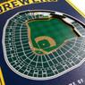 Milwaukee Brewers 8 x 32 3D StadiumView Banner