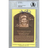 Gary Carter Autographed Hall of Fame Plaque Postcard with HOF 03 Inscription (Beckett)