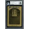 Lou Boudreau Autographed Metallic Hall of Fame Plaque Card (Beckett-00)